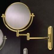 Wildon Home   Wall Mount Swinging Arm Mirror; Polished Brass