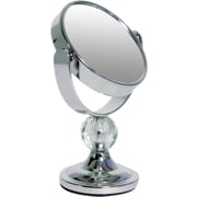 Wildon Home   Mini Me Glamour Mirror w/ Acrylic Crystal Finial ; Chrome with Clear
