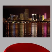 Wallhogs Night Miami Glossy Wall Mural; 16'' H x 24'' W x 0.1'' D
