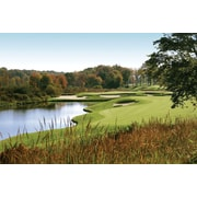 Wallhogs Autumn Golf Glossy Wall Mural; 16'' H x 24'' W x 0.1'' D
