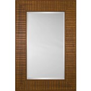 Mirror Image Home Mirror Style 80970 - Honey Wood Bridge; 48.75 x 68.75
