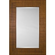 Mirror Image Home Mirror Style 80970 - Honey Wood Bridge; 30.75 x 34.75