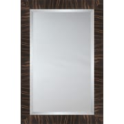Mirror Image Home Mirror Style 81022 - Brown and Carmel Tiger Wood; 45.75 x 65.75