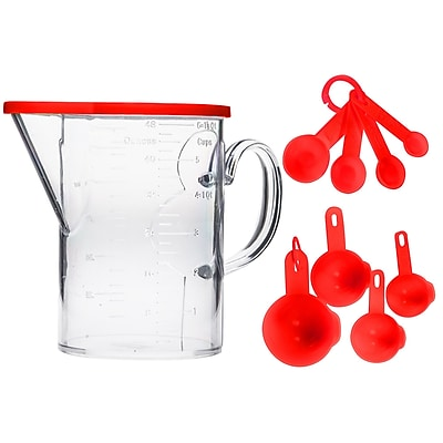 Home Essentials and Beyond 12 Piece Plastic 1.5 Qt. Measuring Set WYF078279319531