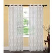 United Linens Jasmine Indoor/Outdoor Single Curtain Panel
