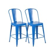 United Chair Industries LLC 26'' Bar Stool (Set of 2); Bright Deep Blue