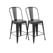 United Chair Industries LLC 26'' Bar Stool (Set of 2); Antique Black Brushing