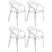 Bienal Arm Chair (Set of 4); Clear