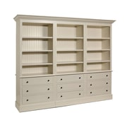 A&E Wood Designs French Restoration Kingston 80'' Oversized Set Bookcase