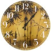 Oriental Furniture 13'' Bamboo Tree Wall Clock