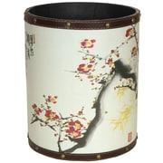 Oriental Furniture Cherry Blossom 2.9 Gallon Fabric Trash Can