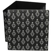 Oriental Furniture Damask Storage Ottoman; Black