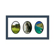 Frames By Mail 3 Opening Collage Picture Frame; Blue