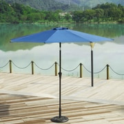 AdecoTrading 9' Patio Round Market Umbrella; Blue