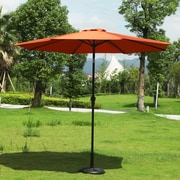 AdecoTrading 9' Patio Round Market Umbrella; Orange