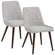 !nspire Side Chair (Set of 2); Light Gray