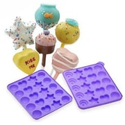 Vandue Corporation Cake Pops Shapes Instant Silicone Baking Pan (Set of 2)