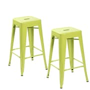 United Chair Industries LLC 26.4'' Bar Stool (Set of 2); Apple Green
