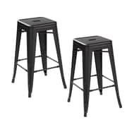 United Chair Industries LLC 26.4'' Bar Stool (Set of 2); Matte Black