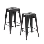 United Chair Industries LLC 26.4'' Bar Stool (Set of 2); Antique Black Brushing