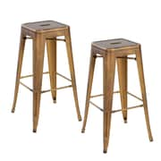 United Chair Industries LLC 26.4'' Bar Stool (Set of 2); Antique Copper