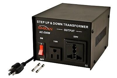 Simran Step Up/Down Voltage 200W Electronic Transformer WYF078279300317