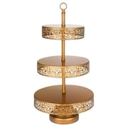 AmalfiDecor Victoria 3 Tier Metal Cupcake Stand; Gold