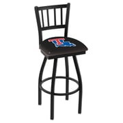 Holland Bar Stool NCAA 44 inch Swivel Bar Stool; Louisiana Tech Bulldogs