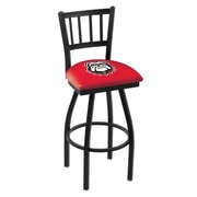 Holland Bar Stool NCAA 39 inch Swivel Bar Stool; Georgia Bulldogs  Dog
