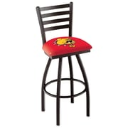 Holland Bar Stool NCAA 39 inch Swivel Bar Stool; Ferris State Bulldogs