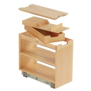 FindIT Kitchen Storage Organization Base Cabinet Pullout w/ Slide, Knife, Cutting Board