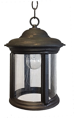 Melissa K2200 Series 1-Light Outdoor Hanging Lantern; 12'' H x 8'' W x 8'' D WYF078279504461