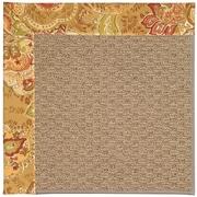 Capel Zoe Machine Tufted Bronze Flowers/Brown Area Rug; 3' x 5'