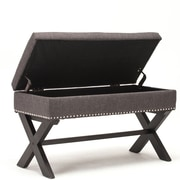 Best Quality Furniture Storage Bedroom Bench; Gray