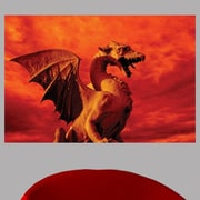 Wallhogs Red Dragon Glossy Wall Mural; 16'' H x 24'' W x 0.1'' D