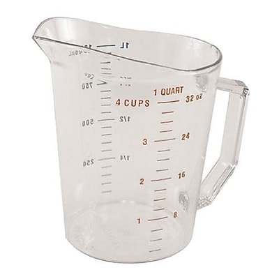 Cambro Camwear 1 Qt Measuring Cup, Polycarbonate (100MCCW135) 2479833