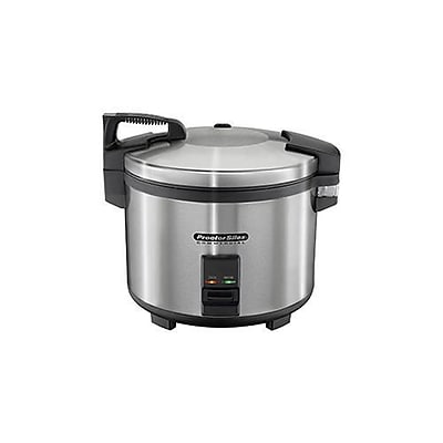 """""""""""Proctor Silex 60 Cup Electric Rice Cooker & Warmer, Silver, 15 2/5"""""""""""""""" H x 18"""""""""""""""" W x 15"""""""""""""""" D"""""""""""" 2479637"""