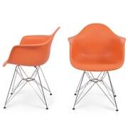Belleze Arm Chair (Set of 2); Orange