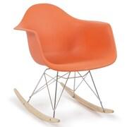 Belleze Rocking Chair; Orange
