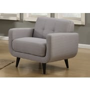 AC Pacific Crystal Mid-Century Arm Chair; Gray