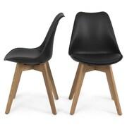 Belleze Side Chair (Set of 2); Black
