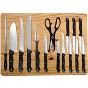Imperial Home 16 Piece Stainless Steel Knife Set w/ Cutting Board