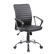 United Chair Industries LLC Mid-Back Desk Chair; Black
