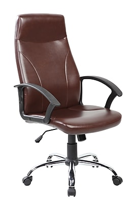 United Chair Industries LLC High-Back Desk Chair; Brown WYF078279500296