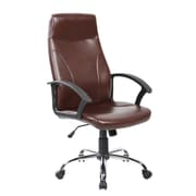 United Chair Industries LLC High-Back Desk Chair; Brown