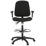 Harwick Contoured Dual Function Mid-Back Drafting Chair; Black