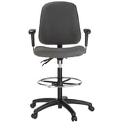 Harwick Contoured Dual Function Mid-Back Drafting Chair; Gray