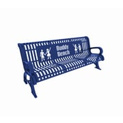 Paris Site Furnishings Premium Buddy Bench, 6 ft, English