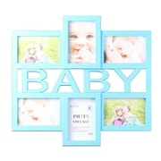 Wee's Beyond Blue Baby 6 Piece Picture Frame Set; Blue