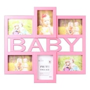 Wee's Beyond Blue Baby 6 Piece Picture Frame Set; Pink